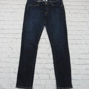 Paige Blue Jeans Skyline Skinny Size 32 Dark Wash